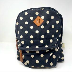Madden Girl Backpack Purse Black White Dots